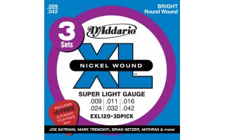DAddario EXL120-3D PICK XL Super Light [09-42]